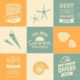 Sommerzeit-Design-Sammlung Stockfotografie