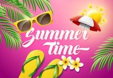 Sommerzeit-Konzeptillustration Stockfoto