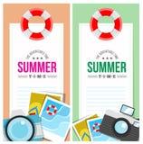 Sommerzeit laden Kartenkonzept ein Stockfotografie