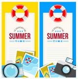 Sommerzeit laden Kartenkonzept ein Lizenzfreies Stockbild