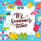 Sommerzeit-Papier-Konzept Lizenzfreie Stockfotografie