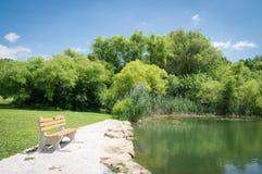 Sommerzeit-Park Stockbilder