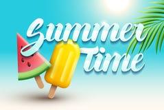 Sommerzeit und Eiscreme Stockfotos