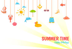 Sommerzeitfahne Lizenzfreie Stockbilder