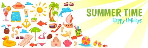 Sommerzeitfahne Lizenzfreies Stockbild