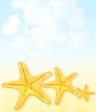 Sommerzeitferien-Auszugshintergrund Lizenzfreies Stockbild