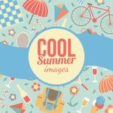 Sommerzeitferien und reisender Hintergrund Lizenzfreie Stockfotografie