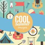 Sommerzeitferien und reisender Hintergrund Stockfoto