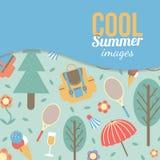 Sommerzeitferien und reisender Hintergrund Lizenzfreies Stockbild