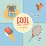 Sommerzeitferien und reisender Hintergrund Lizenzfreie Stockbilder