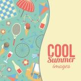 Sommerzeitferien und reisender Hintergrund Stockbild