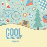 Sommerzeitferien und reisender Hintergrund Stockbilder