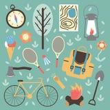 Sommerzeitferien und reisender Hintergrund Lizenzfreies Stockfoto