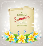 Sommerzeithintergrund Lizenzfreies Stockbild