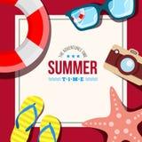 Sommerzeithintergrundkarte Stockfotos