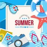Sommerzeithintergrundkarte Lizenzfreie Stockbilder