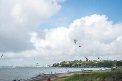 Sommerzeitlandschaft auf der Dorset-Küste von England Lizenzfreies Stockfoto
