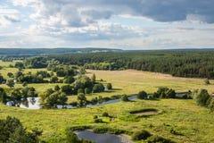 Sommerzeitlandschaft - River Valley des Siverskyi Seversky Donets Lizenzfreie Stockbilder