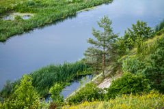 Sommerzeitlandschaft - River Valley des Siverskyi Seversky Donets Lizenzfreie Stockfotografie