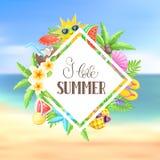 Sommerzeitplakat Stockbilder