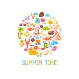 Sommerzeitrahmen Lizenzfreies Stockfoto