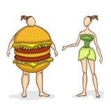 Sommes nous ce que nous mangeons Photo stock