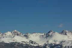 Sommet 3 de montagnes rocheuses Photographie stock libre de droits