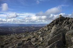 Sommet désireux de bâti Montagnes de Cairngorm, Aberdeenshire, Ecosse images stock