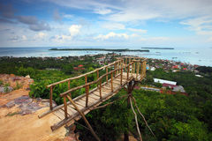 Sommet d'île de Karimunjava Image libre de droits