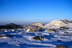sommet de chute de neige Images libres de droits