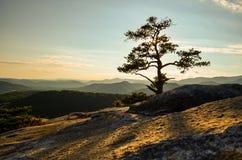 Sommet de la montagne en pierre la Caroline du Nord image libre de droits