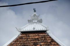 Sommet de la mosquée ou du Masjid Tengkera de Tranquerah Image libre de droits