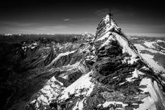 Sommet de Matterhorn (Monte Cervino) Photo stock