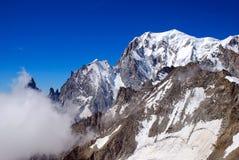 Sommet de Mont Blanc Images libres de droits