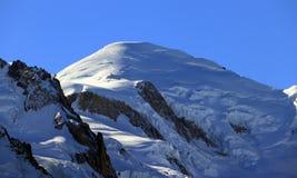Sommet de Mont Blanc 4.808 7 m/15.777 pi photos libres de droits