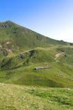 Sommet de montagne alpin Photographie stock