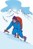 sommet de montagne de grimpeur illustration libre de droits