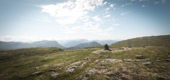 Sommet de montagne Sunndalen Photographie stock
