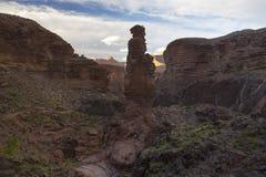 Sommet de roche de monument en Arizona Grand Canyon photo libre de droits