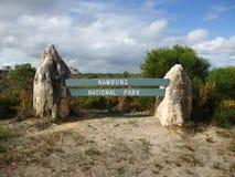 Sommet en parc national de Nambung Photographie stock