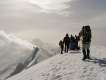 Sommet occidental de Breithorn Image libre de droits