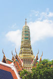 Sommet Wat Phra Kaew en Thaïlande Photos stock