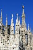 Sommets - cathédrale de Milan - Milan - l'Italie Photos libres de droits