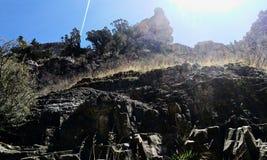 Sommets rocailleux de canyon de Little Rock image libre de droits