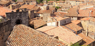 Sommieres. Typical roof of the village of Sommieres, in the gard, France royalty free stock image