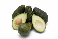 Sommige avocado's. Stock Foto