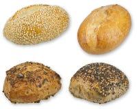 Sommige broodjes die op witte achtergrond worden geïsoleerdz Royalty-vrije Stock Afbeelding