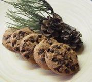 Sommige cakes met pine-wood royalty-vrije stock foto