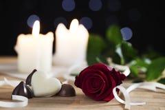 Sommige Chocolade voor Valentijnskaarten Royalty-vrije Stock Afbeeldingen