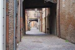Sommige details van middeleeuwse Italiaanse steden Stock Foto